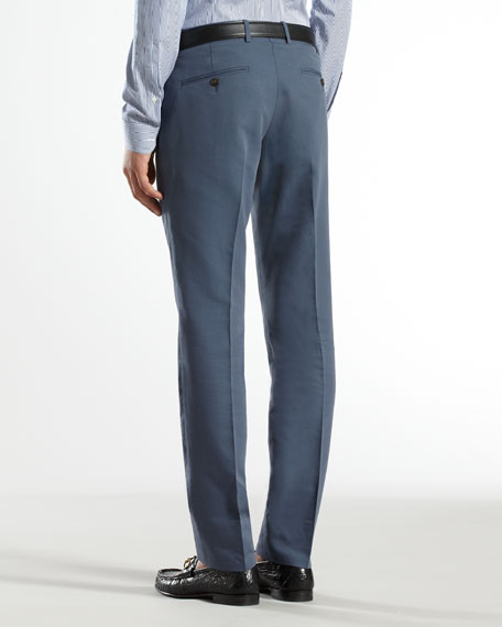 Poplin Skinny Formal Pants