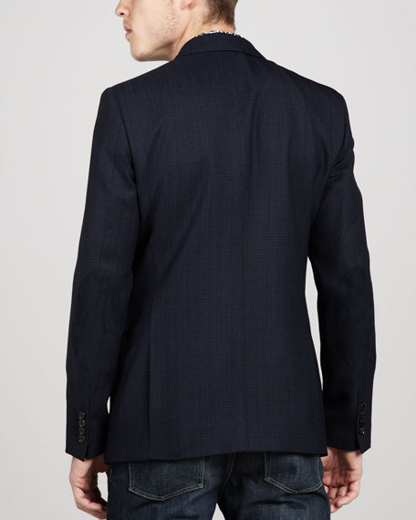 Textured Check Sport Coat