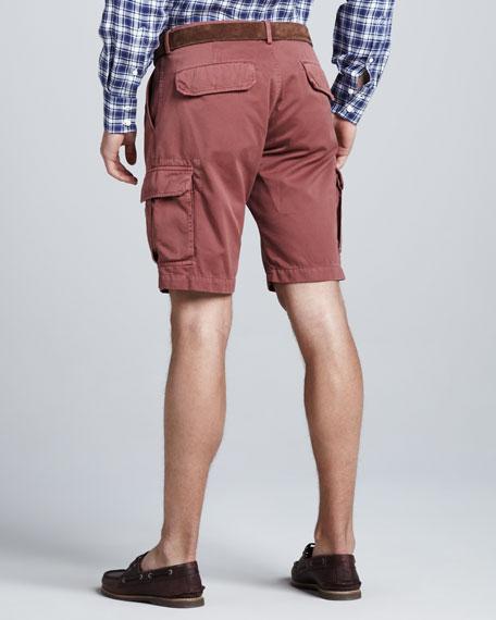 Slim Cargo Shorts, Orange