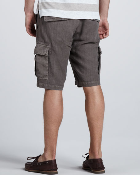 Slim Linen Cargo Shorts