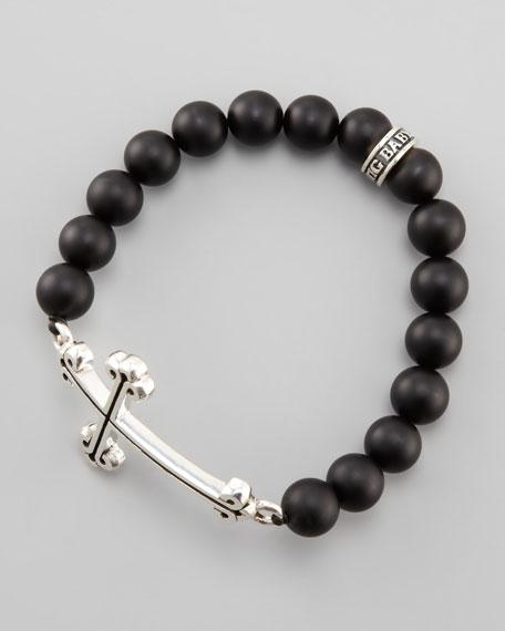 Black Onyx Cross Bracelet
