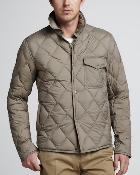 Diamond-Quilted Snap Jacket