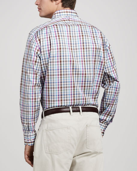 Pinwheel Plaid Sport Shirt