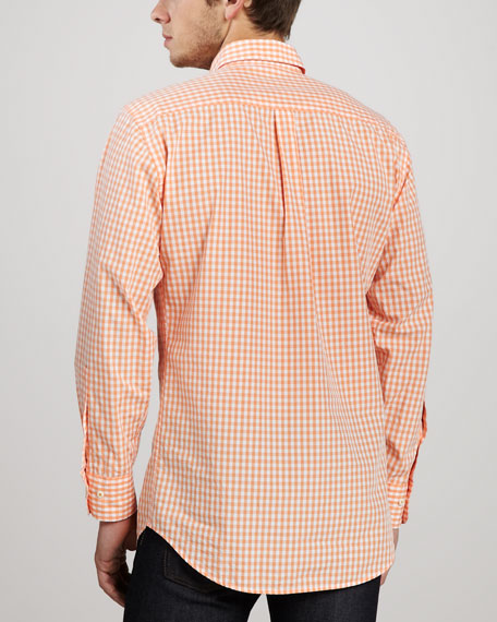 Check Sport Shirt, Papaya