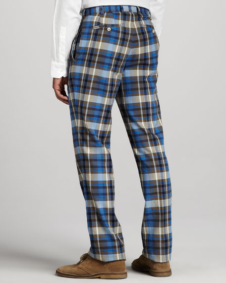 Everton Washed Plaid Pants