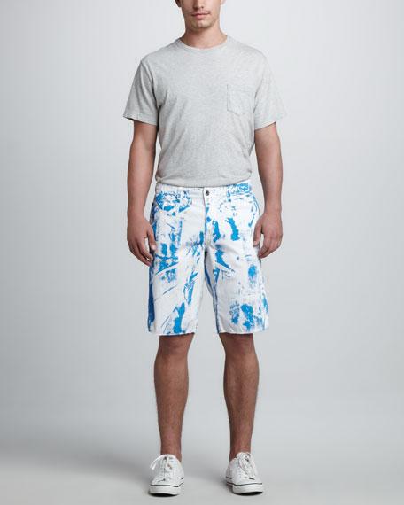 St. Bart's Printed Shorts, Blue Jay