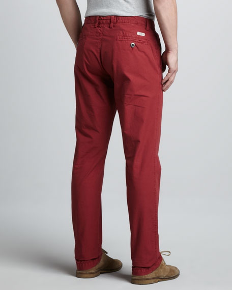Oceanside Ripstop Pants, Red Polo