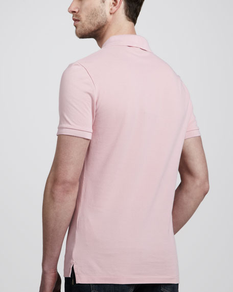 Equestrian Knight Polo, Pastel Pink
