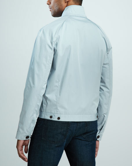 Check-Trim Cotton Jacket