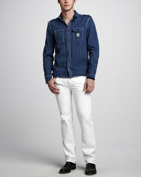 """Safado White Jeans, 32"""""""