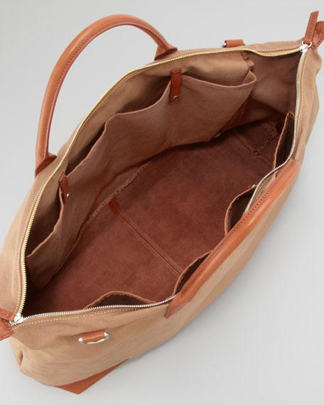 Men's Canvas Zip Tote Bag, Large