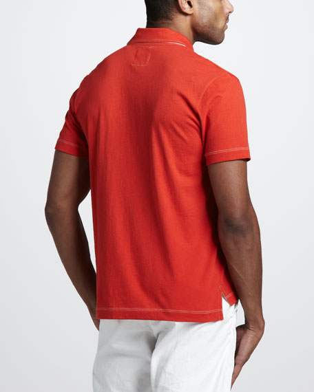Pensacola Jersey Polo, Red