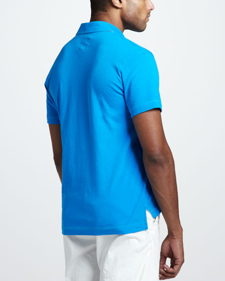Pensacola Jersey Polo, Swedish Blue