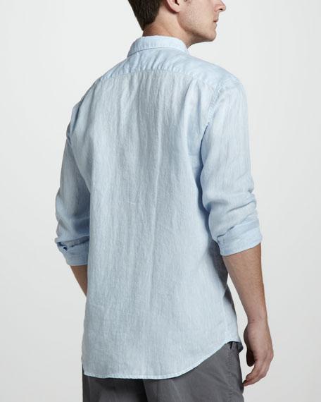 Linen Sport Shirt, Dragonfly Blue