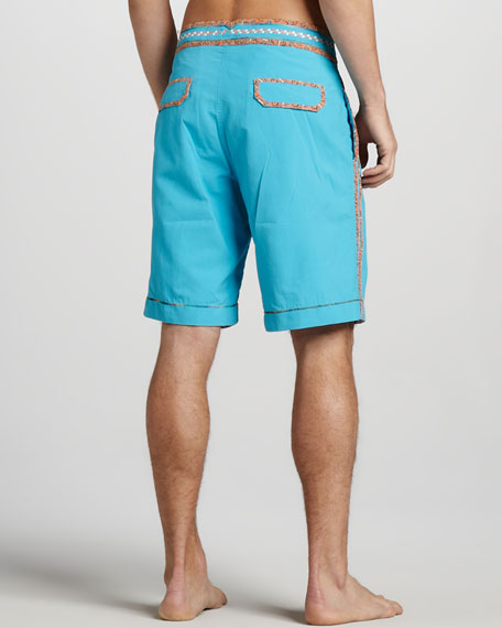Queequeg Boardshorts, Teal