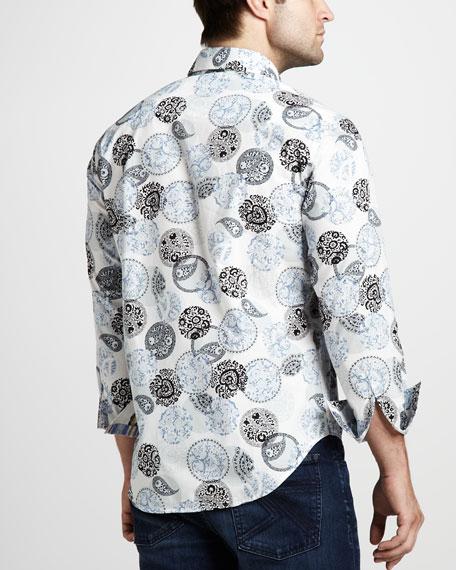 Moeini Medallion-Print Sport Shirt