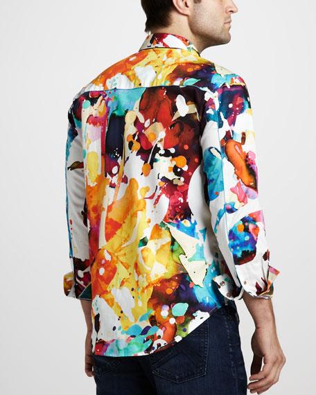 Gerard Paint-Print Sport Shirt