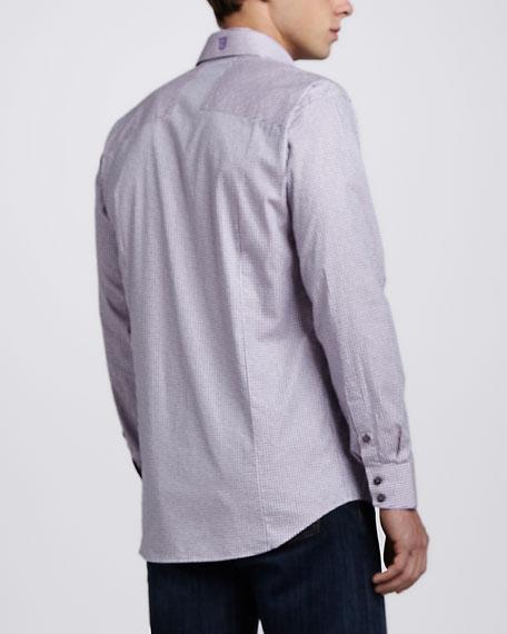 Giorgio Plaid Sport Shirt, Pink