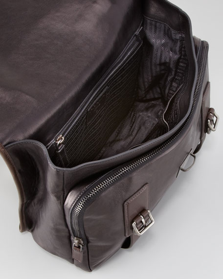Glace Buckle Briefcase Bag