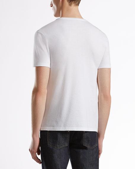 Belt-Print Tee, White