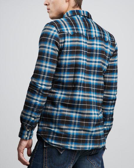 Sherpa-Lined Plaid Jacket