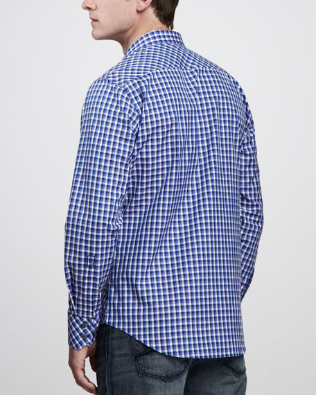Campuzano Plaid Sport Shirt