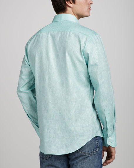 Moncrease Linen-Cotton Sport Shirt