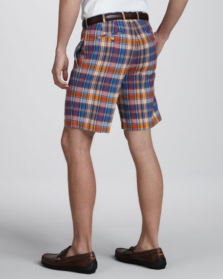 Manchester Washed Plaid Shorts