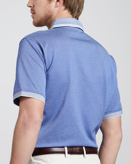 Tipped Pocket Polo, Tide