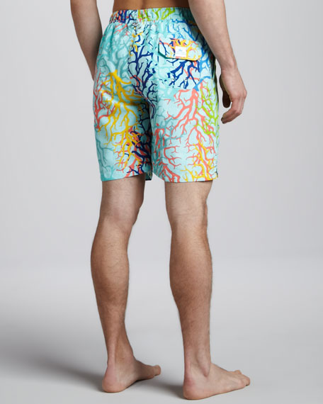 Saltwater Coral Swim Trunks