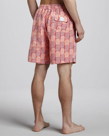 Montecito Swirl-Print Board Shorts
