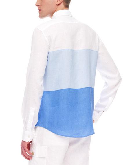 Colorblock Linen Shirt