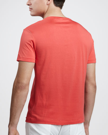 V-Neck Tee, Racing Red