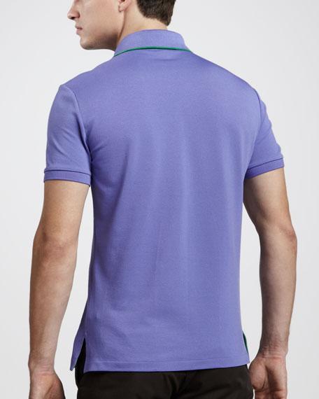 Mesh Pocket Polo, Tour Purple