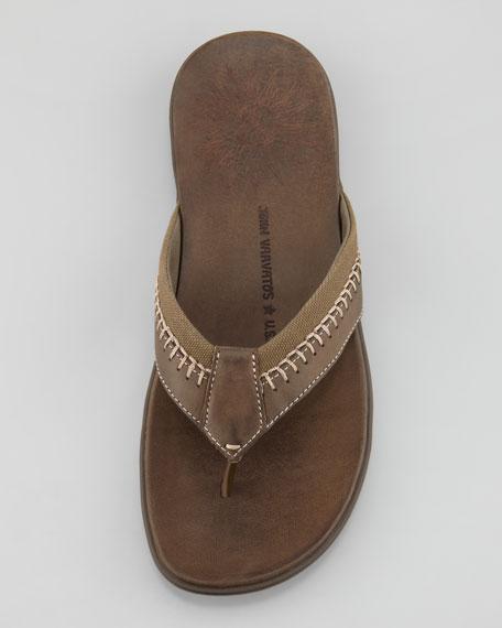 Tobago Stitched Thong Sandal