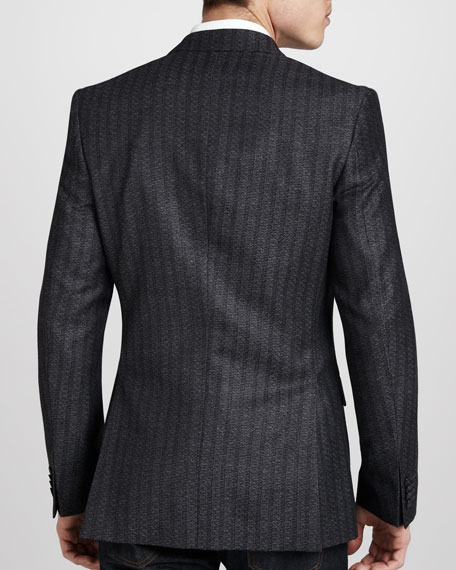 Striped Silk-Wool Sport Coat
