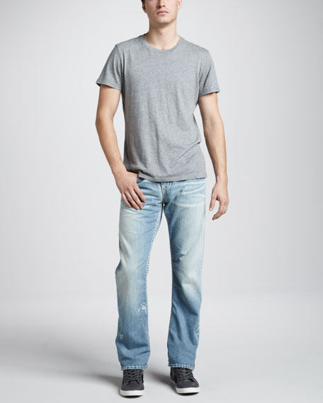Ricky Super-T Straight Jeans, Verde Valley