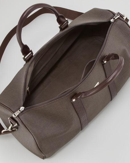 Salvatore Ferragamo New Form Men's Duffel Bag, Brown
