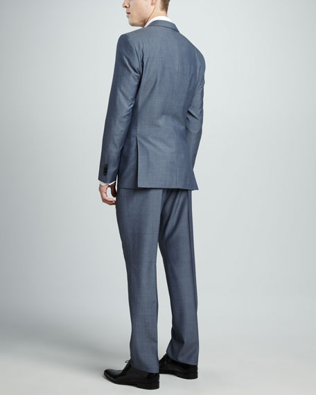 Sharkskin Suit, Light Blue