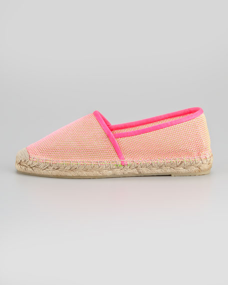 Espadrille Closed Toe Flat, Pink/Green
