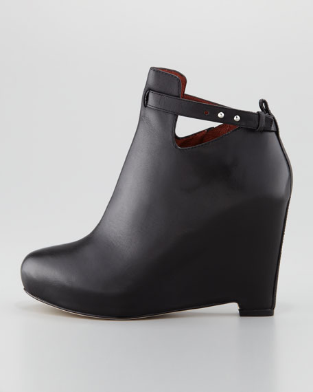 Peri Leather Ankle-Strap Bootie