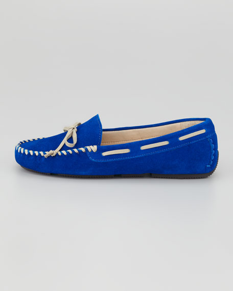 Dorian Suede Driving Moccasin, Royal Blue