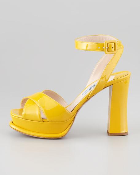 Vernice Ankle Wrap Platform Sandal