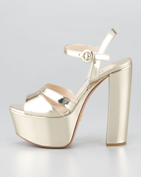 Specchio Leather Platform Sandal