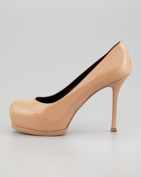Tribute Two Patent Pump, Light Nude