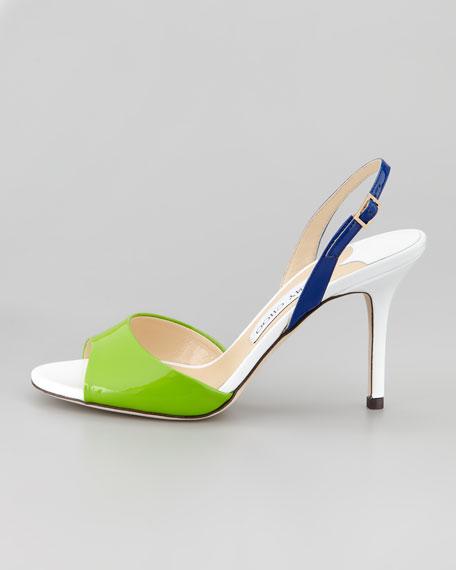 Vela Colorblock Slingback Sandal