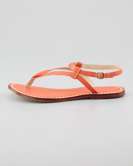 Merit Flat Sandal, Orange
