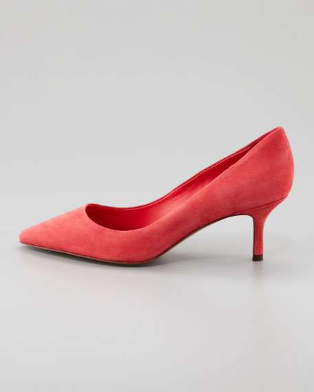 Electra Pointed-Toe Pump, Coral