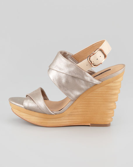 Natey Platform Wedge Sandal, Rose