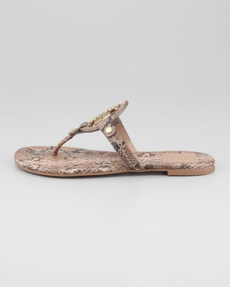Miller Snake-Embossed Logo Thong Sandal